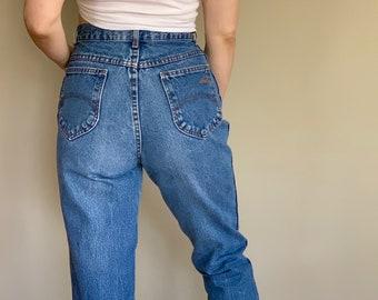 feeb6cf78 Vintage Chic 100% Cotton Denim High Waisted Jeans