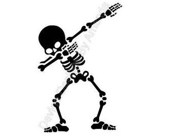Dabbing Skeleton SVG FILE