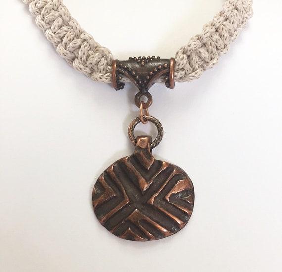 Copper Necklace Copper Pendant Handmade Copper Jewelry Etsy