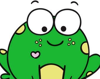 Cutie Frog Planner Sticker Sheet