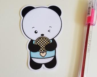 I Love Waffles Panda Planner Die Cut