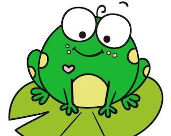 Cutie Lilypad Frog Planner Sticker Sheet