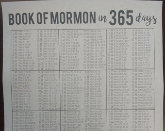Book of Mormon Challenge in 365 Days