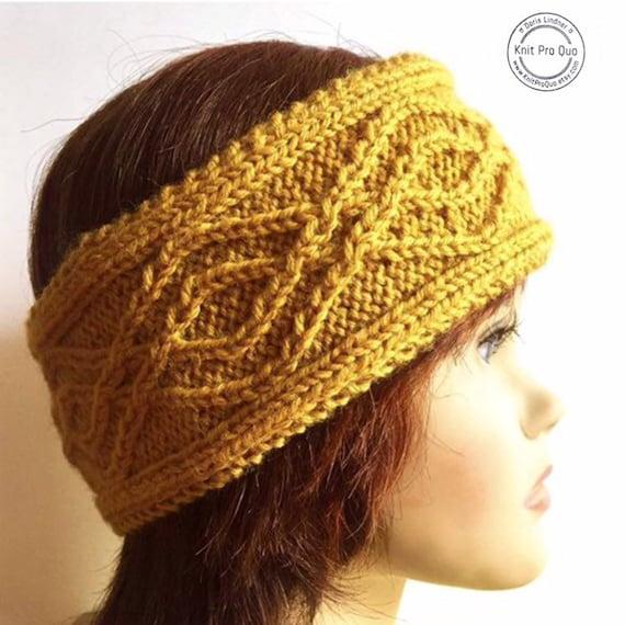 knitted headband women multiple colors tram etsy