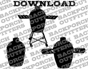 Kamado Joe Big Green Egg BGE SVG Bundle Digital Download For Use With Cricut Silhouette For DIY Printing Cutting Gifts for Grill Master