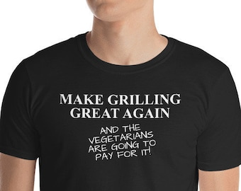 289887fa Funny BBQ Grilling T Shirt | Barbecue Pit Master Grill King Meat Fan Gift  Idea for Fathers's Day Tshirt | Make Grilling Great Again Saying