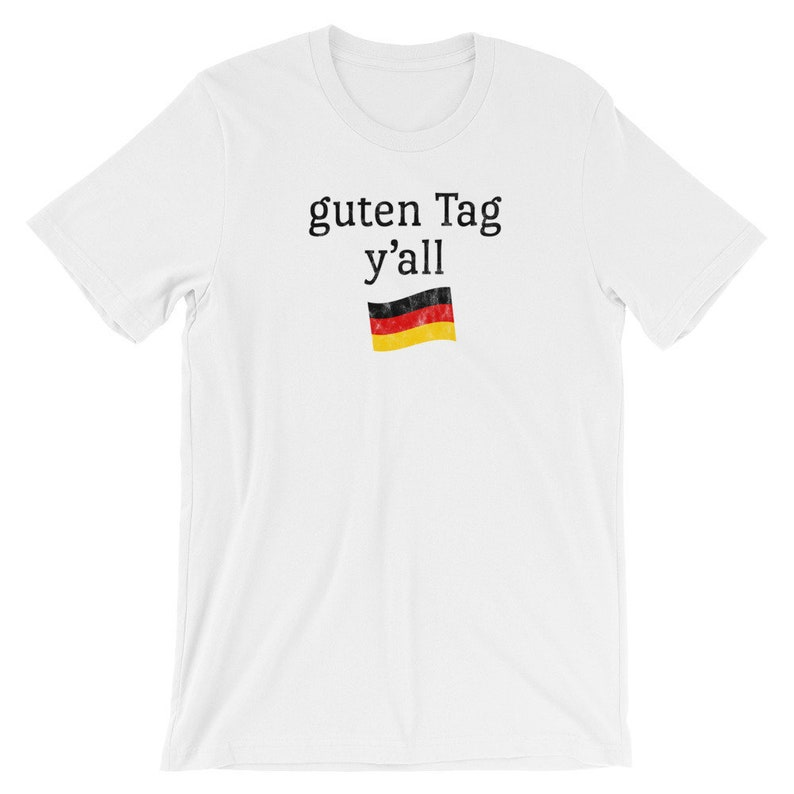 1f68696c Funny Oktoberfest T Shirt Guten Tag Y'all German Flag | Etsy