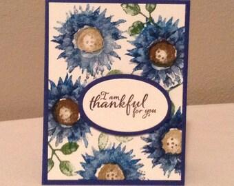 I am Thankful for you handmade card