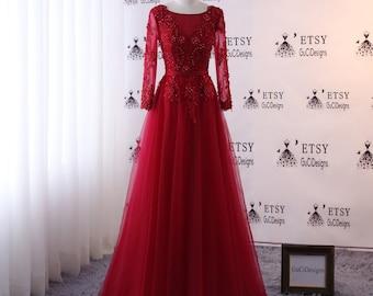Prom dress Long Deep Red  53127f1c2326
