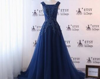 Navy Wedding Dress Etsy