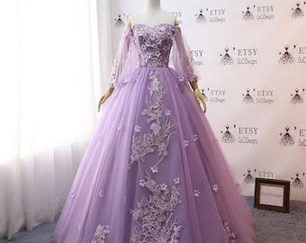 Purple Wedding Gown Etsy