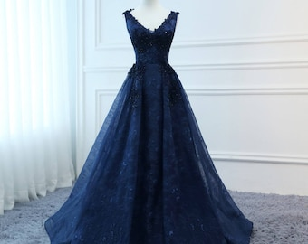 Navy Blue Military Ball Dresses