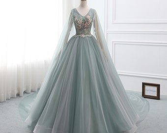Weddings & Events New Arrival Customized V Neck Ball Gown Evening Dresses 2019 Butterfly Beaded Sky Blue Formal Dresses Party Evening Gowns Distinctive For Its Traditional Properties