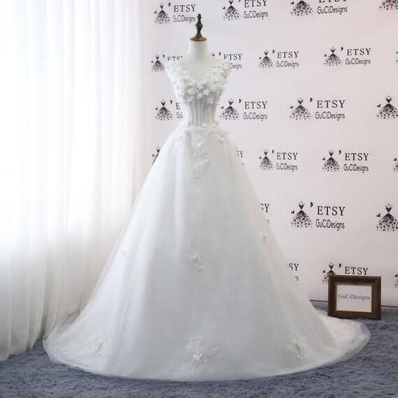 A-Line Fairy Wedding Dress Princess Wedding Gown Custom made | Etsy