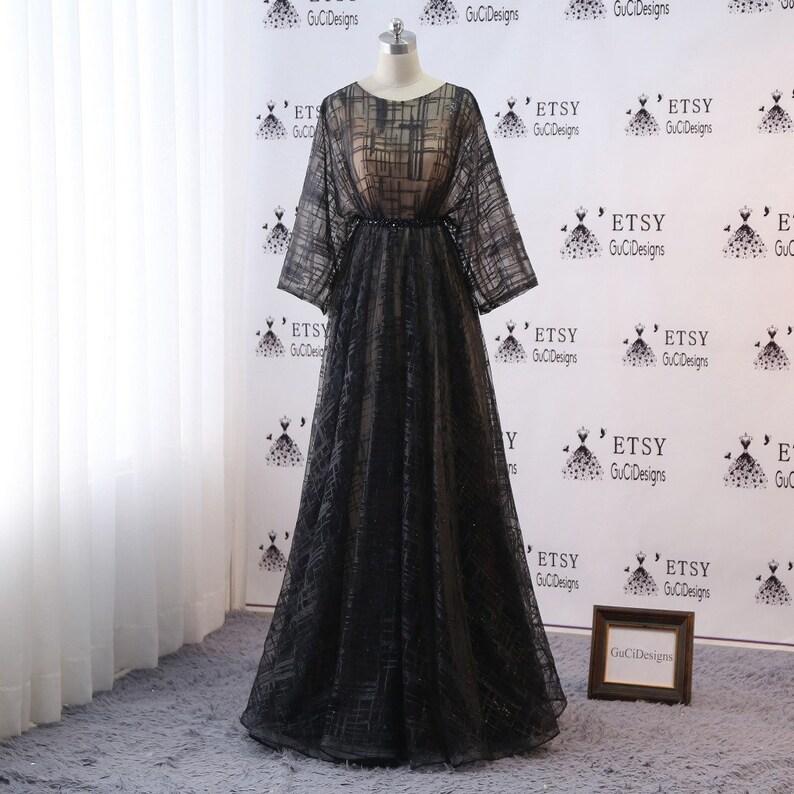 acb381727 Custom Prom Ball Gown Dresse Long Black Evening Dresses Long