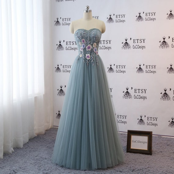 2018 Prom Ball Gown Dresses Long Sweetheart Mint Green Evening | Etsy