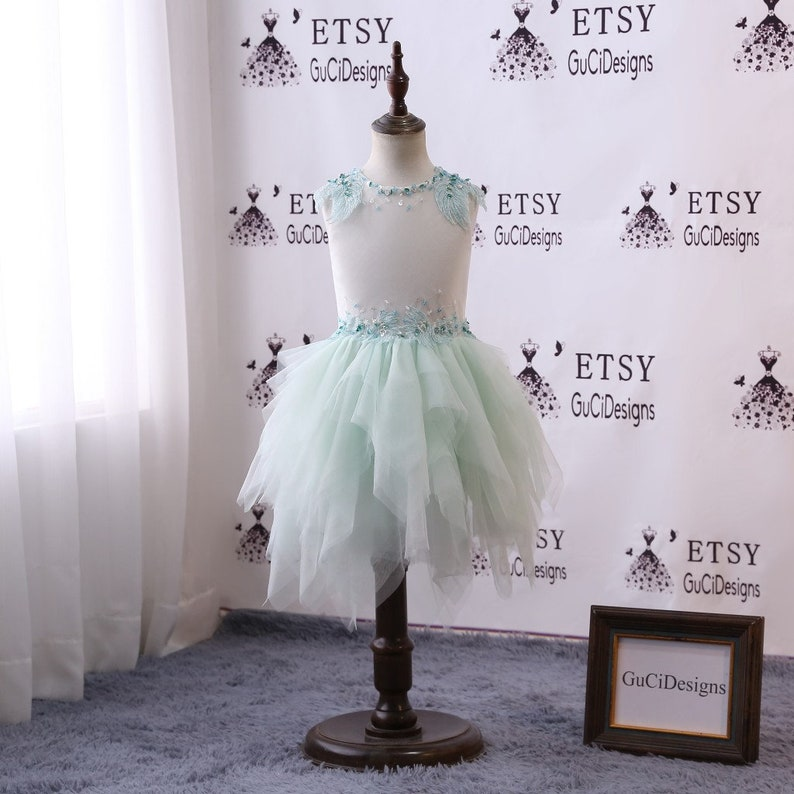 Baby Dress Mint Green Flower Girl Dresses with Lovely Wings  5f9d0baf8f1b