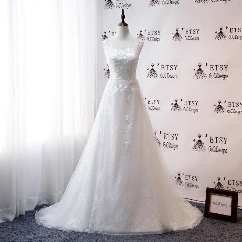 9d0805252dc Charming Bridal Gowns Vintage Lace A-line Wedding Dress Jewel