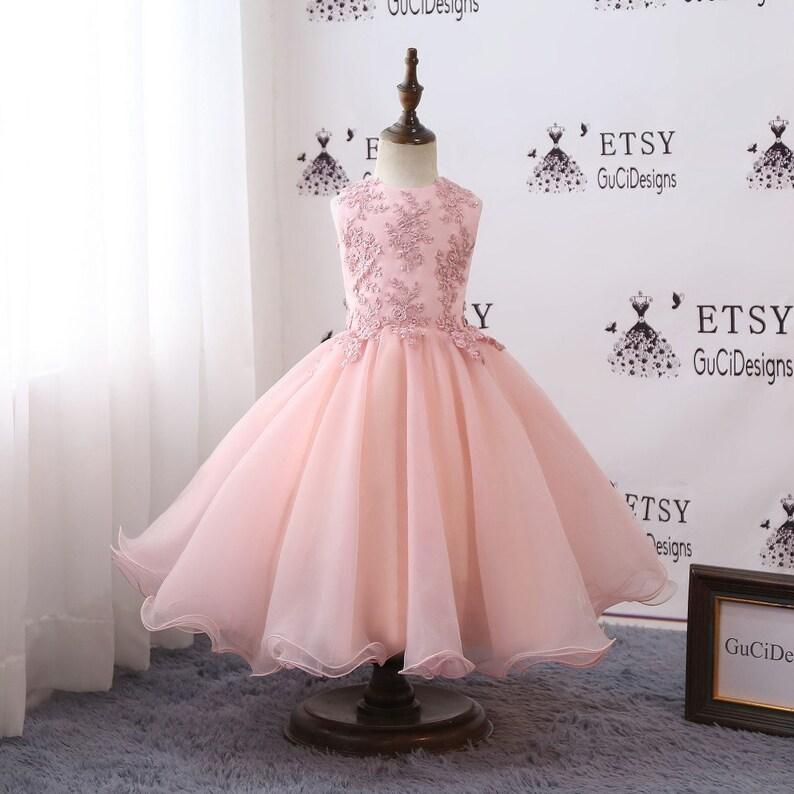 6fdd7a808f9 Beautiful Girls Ball Gown Evening Dress Pink Princess Dress