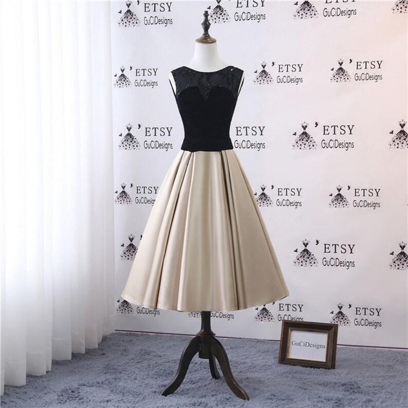 e2fc43a44c Fashion Bride Mother Dress Tea Length Black Verlet Lace Beaded