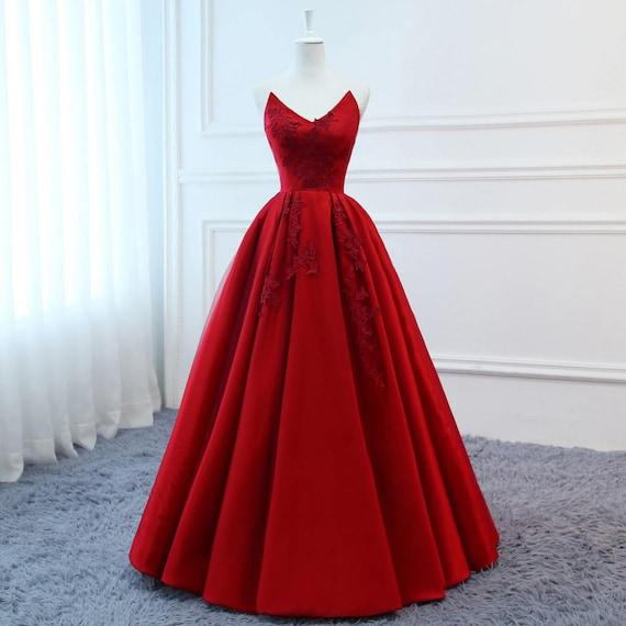 83a18cf40d75 2018 abiti da ballo lunghi abiti da sera rossi abito tulle