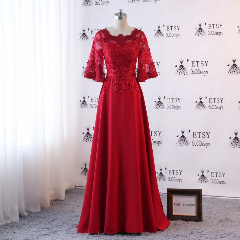 215ae8970bc 2018 Newest Prom Evening Dresses Long Wine red High Quality