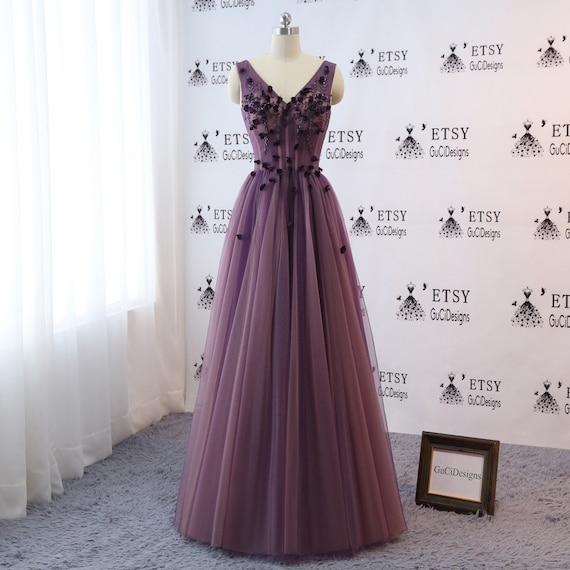 Custom Plus Sizecolor Grape Purple Prom Ball Gown Wedding Etsy