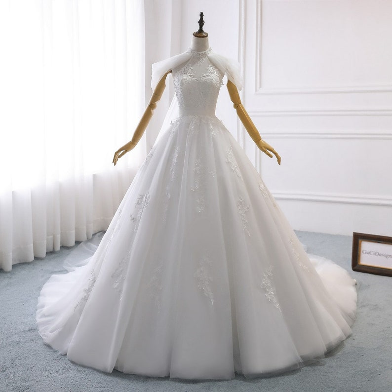 fb08c5acb7 White Wedding Dress Aline LaceWedding Dress BohemianWedding | Etsy