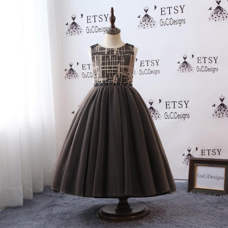 7116e72d43bd 2018 Flower Girl Dress For Weddings Long Lovely Tutu Flower | Etsy