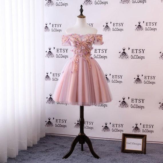 666b142aa0 2018 Junior Senior Girl Homecoming Dress Pink Orange Lace