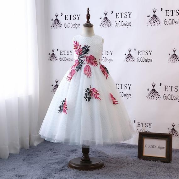 Sleeveless Girls Party Formal Wedding Princess Bridesmaid Christening Dress gN