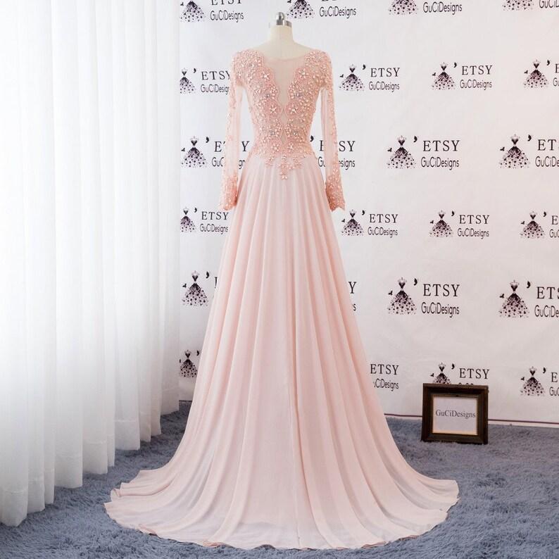 fb7928f3087fa 2019 Women Formal Dresses Baby Pink Long Prom Dresses Long | Etsy