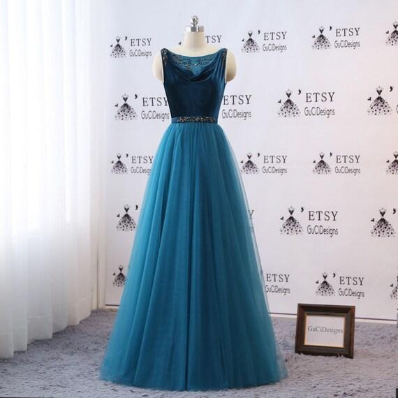 Elegant Prom Ball Gown Dresses Long Vintage Velvet Evening | Etsy