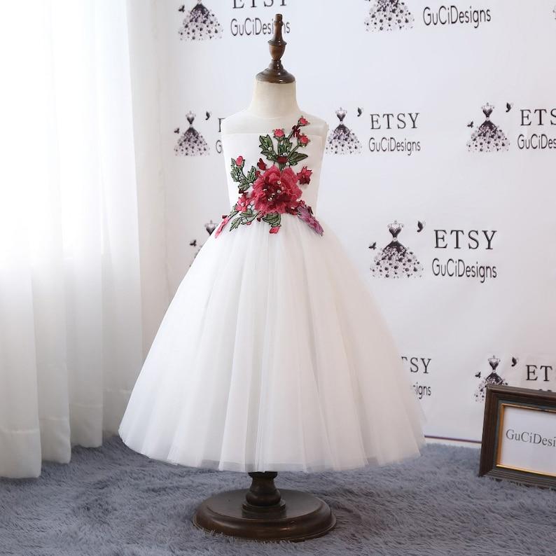 2455fc629 2018 Flower Girl Dresses For Weddings Long Lovely Tutu | Etsy