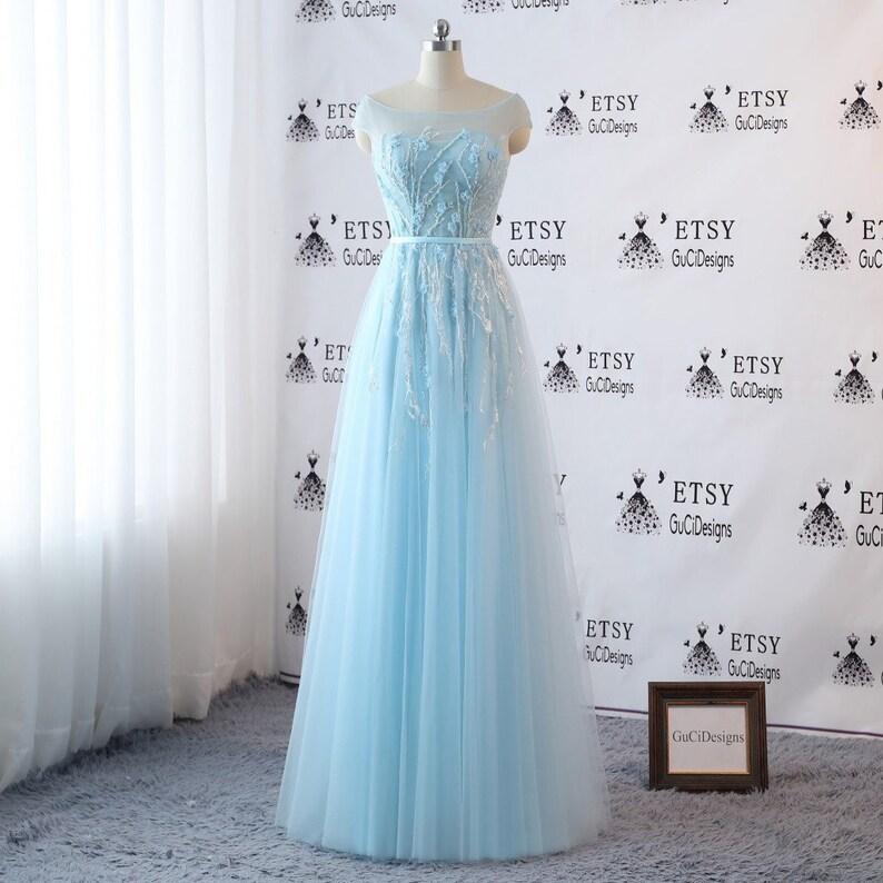 5fd461dd7 Custom size Romantic Bride Wedding Dresses Tulle Boho Blue