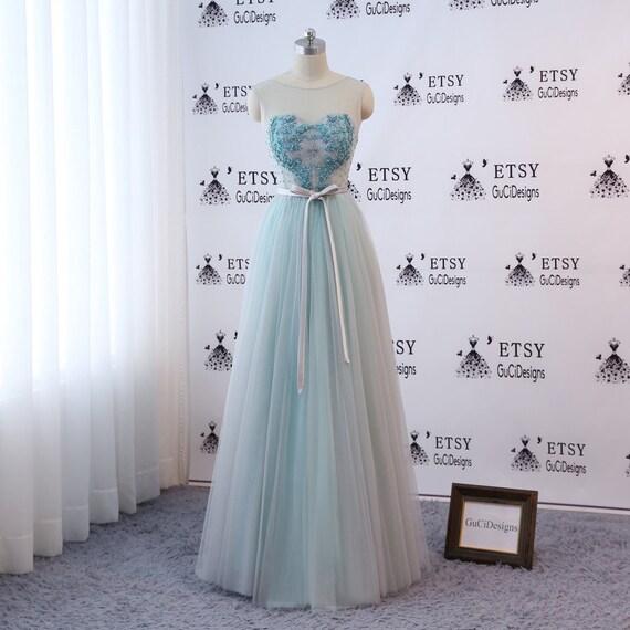 Custom Prom Ball Gown Long Green Evening Dresses Floor Length | Etsy