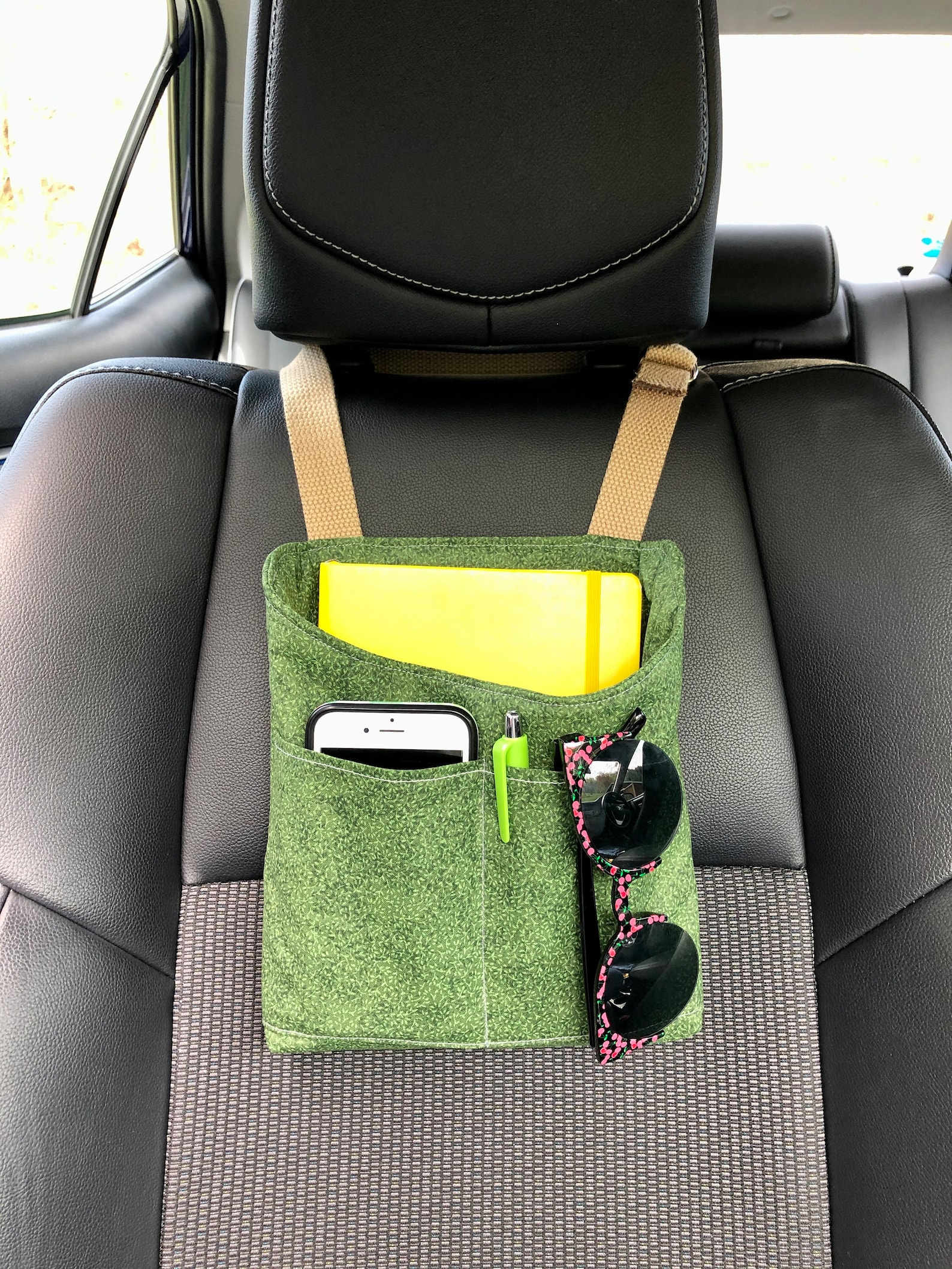 Car Organization Caddy for front seat or back seat, adjustable