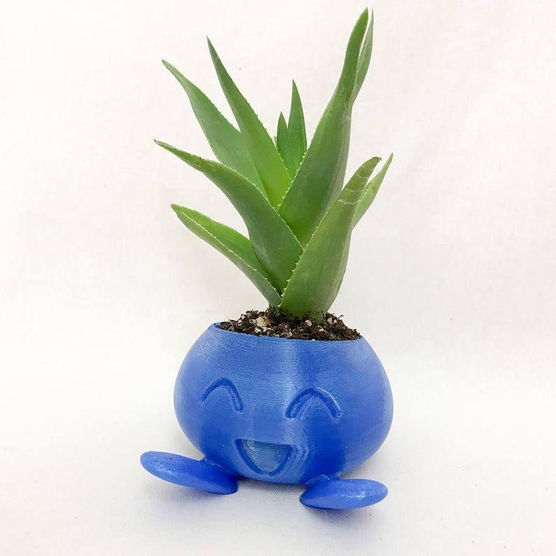 Oddish PlanterOddishPokemonSucculent Planter3D Printed PlanterPokemon Planter3D PrintedFor HerFor HimGardeningIndoor Planter