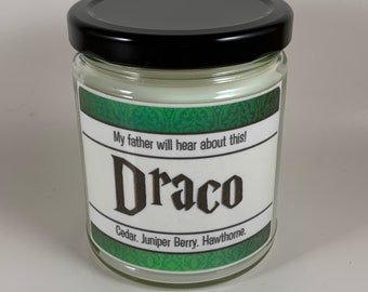 Draco   Dark Wizard   Wizarding Inspired Candle
