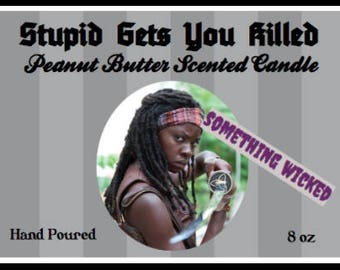 Walking Dead Michonne Inspired Candle