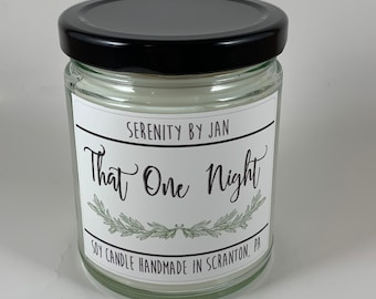 That One Night   Serenity by Jan   Hunter   Modern Farmhouse   Dinner Party   The Office Inspired Candle