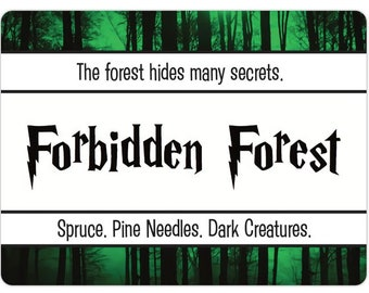 Forbidden Forest Inspired Candle