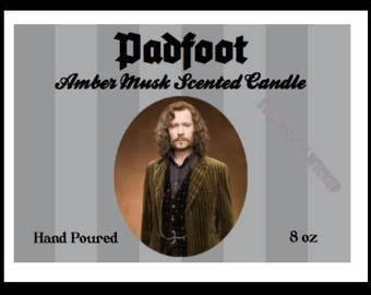 Harry Potter | Sirius Black | Padfoot | Inspired Candle