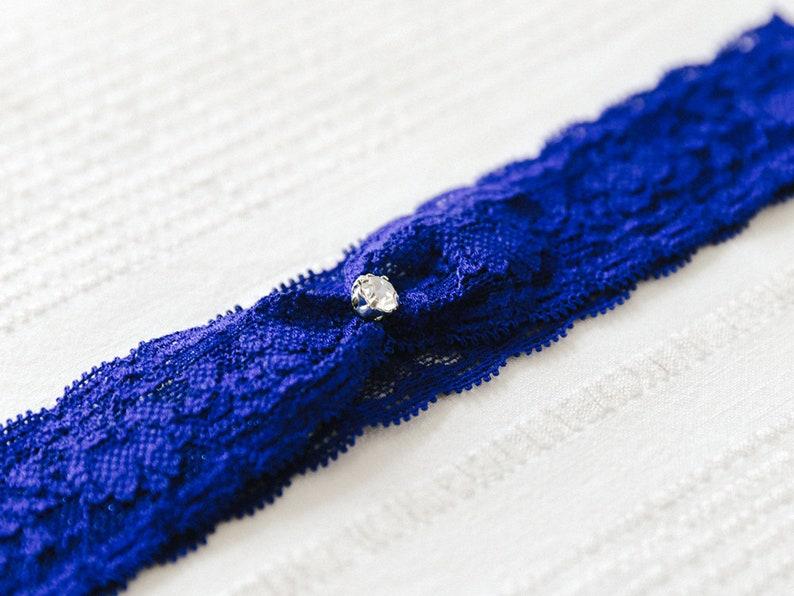 something blue bridal garter set Christy garter set navy blue lace garter set Wedding garter set