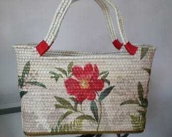 Red Flower palm Bag
