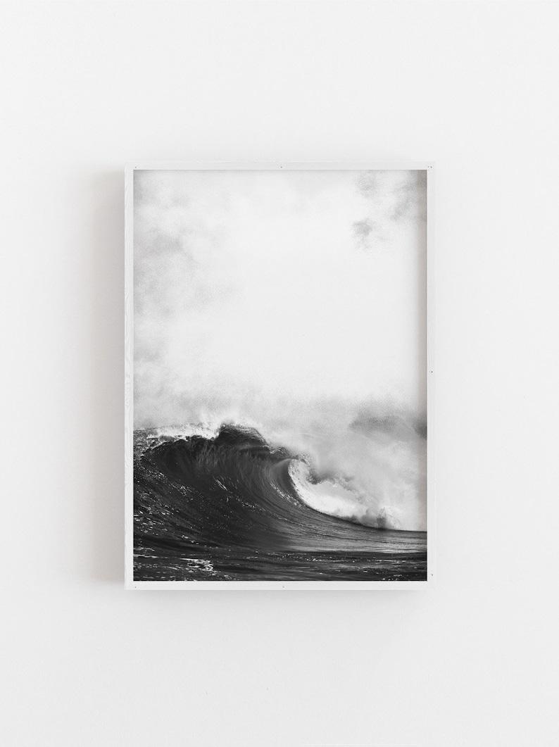 Ocean Waves Print, Ocean Waves Printable Art, Black and White Ocean Wall  Art, Affiche Scandinave, Ocean Minimalist, Scandinavian Nature Art