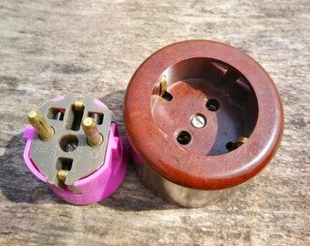 Antiques Antique Socket Multiple Socket Distributor Exposed Art Deco Loft Other Antique Hardware