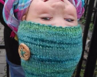 Warm cap from natural merino wool