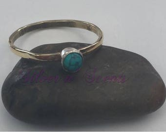 Two Toned, Sterling Silver Stack Ring
