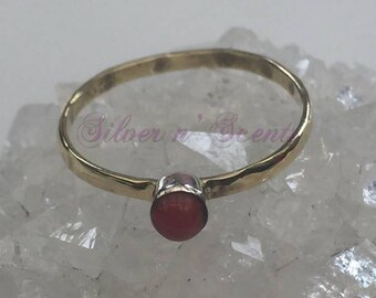 Two Toned Sterling Silver Stack Ring.